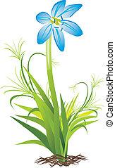 Spring flower. Vector illustration