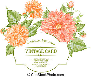 Spring flowers bouquet for vintage card.