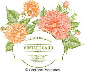Spring flowers bouquet for vintage card. Vector illustration...