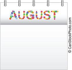 Calendar August - Spring Flowers Calendar August