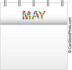 Calendar May - Spring Flowers Calendar May