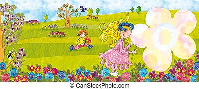 Spring flowers,