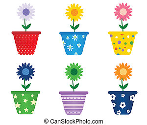 Spring flowers - Flowers in pots