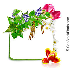 Spring flowers. frame