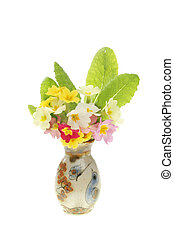 Spring flowers in a vase