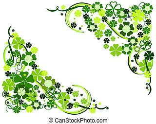 spring flowers in green