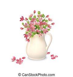 Spring Flowers in Jug