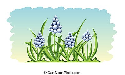 Spring flowers nature background