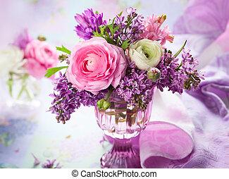 Spring flowers - Beautiful spring flowers in vase