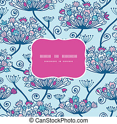 Spring Flowers Seamless Frame Pattern Background