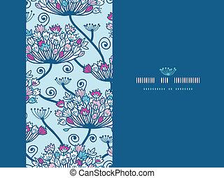 Spring Flowers Seamless Horizontal Pattern Background