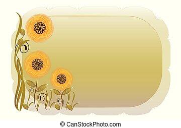 Spring flowers vintage frame picture