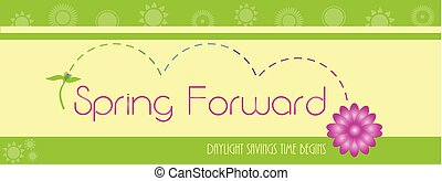 Spring Forward Background with Flowers
