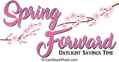 Spring Forward Cherry Blossom Graphic