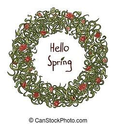 Spring frame