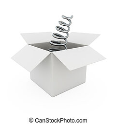 Spring from a box - Blank bended metal spring from a box
