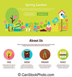Spring Garden Flat Web Design Template