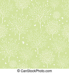 Spring garden seamless pattern background - Vector spring...