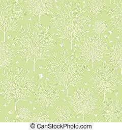 Spring garden seamless pattern background - Vector spring...