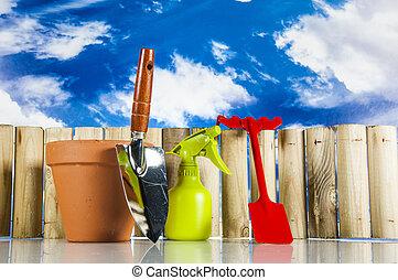 Spring garden work