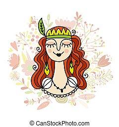 Spring girl, sketch for your design