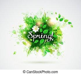 spring., glose, skriv