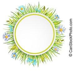 Spring grass frame.