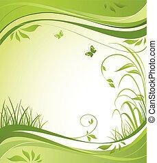 Spring green banner