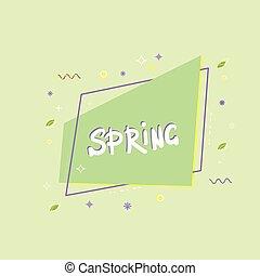 Spring green banner. Vector illustration.