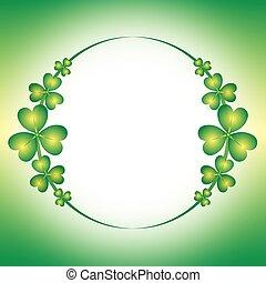 Spring green clover border 1
