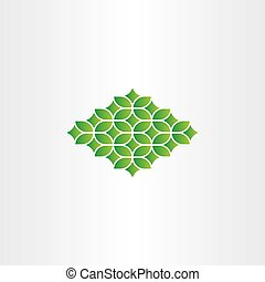 spring green pattern design element