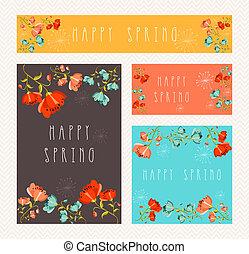 Spring greeting card set