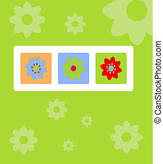 Spring greeting card with flowers