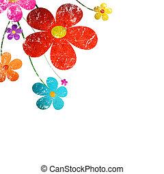 Spring grunge flowers
