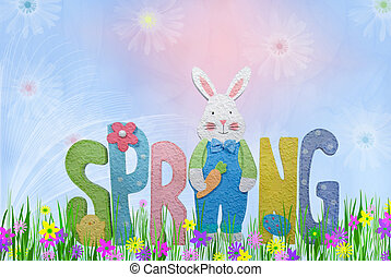 Spring Has Sprung - Pastel colors for spring illustration.