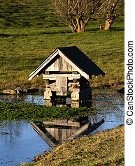 Spring house in the Appalachian