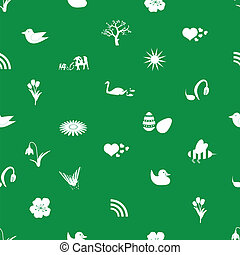 spring icons pattern eps10