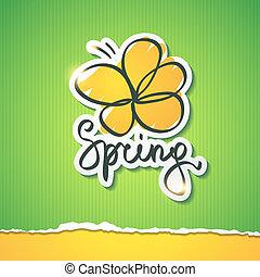 spring illustration, vector eps 10