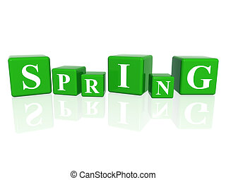 spring in 3d cubes