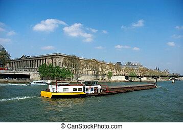 Spring in Paris, the seine