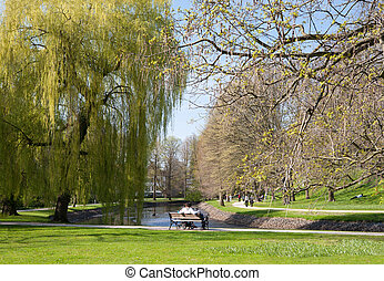 Spring in Park Celle, Germany