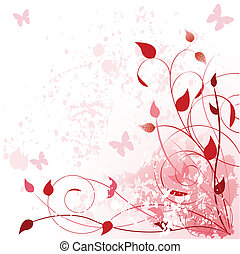 Spring in pink - Beautiful Pink Spring background. Place for...