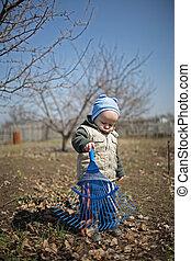 spring in the garden for children