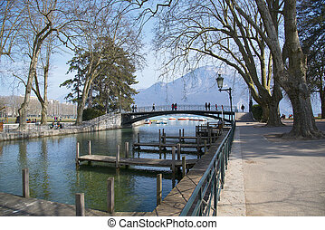 Spring Lake Annecy, France.