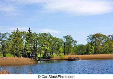 Spring Lake, dock