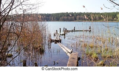 Spring Lake with homemade pier