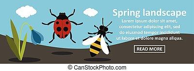 Spring landscape banner horizontal concept