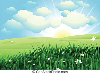 Spring landscape - Nature landscape