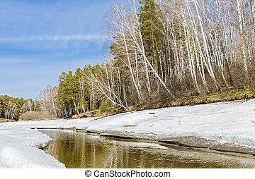Spring landscape. Siberia, Russia