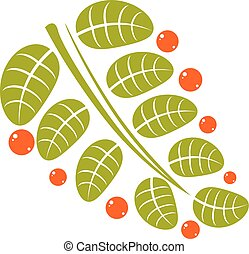 Spring leaf simple vector icon, nature and gardening theme...
